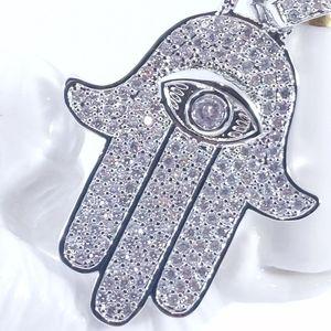 Jewelry - Icy Hand of Hamza + Rope Chain